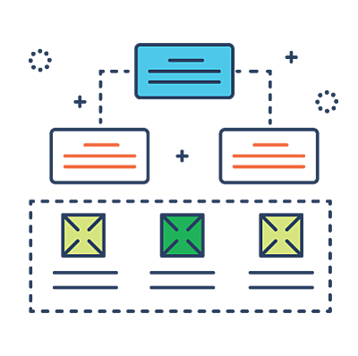 Custom-Architecture-Mapping line icon