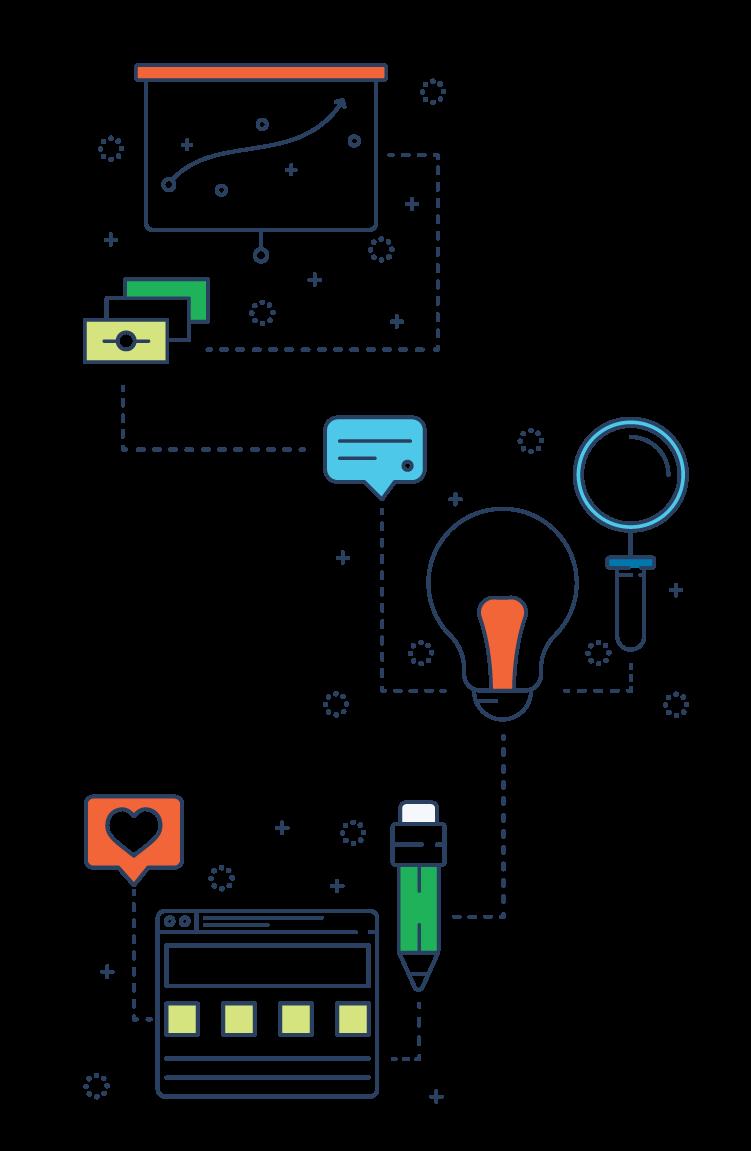 Inbound Marketing Strategy line icons