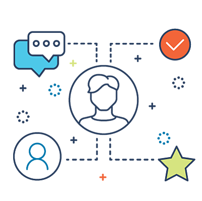Sales Process Mapping line icon