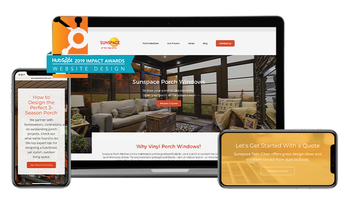 Impact Award Website Design